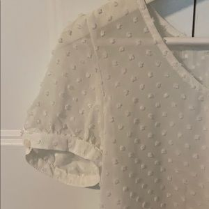 Dotted White Blouse